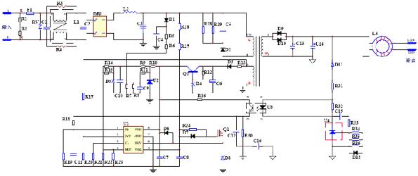基于转换器AX6066+A433的LED驱动电源设计(电子工程专辑)