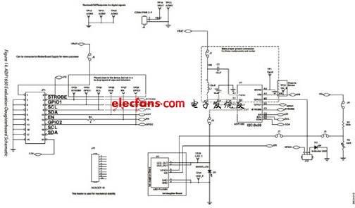 ADP1650 评估板子板电路图