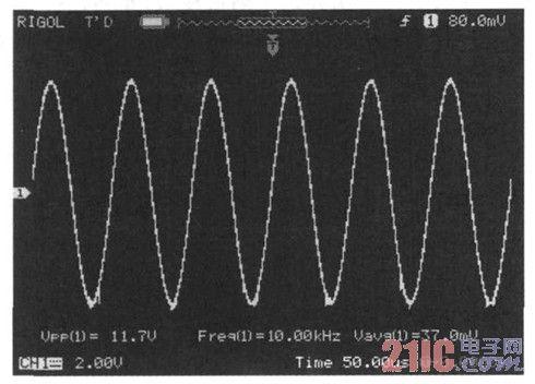 图7 检波前的信号波形