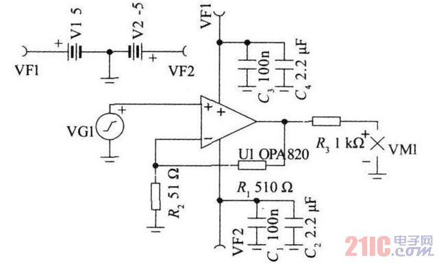 图3 第一级放大电路