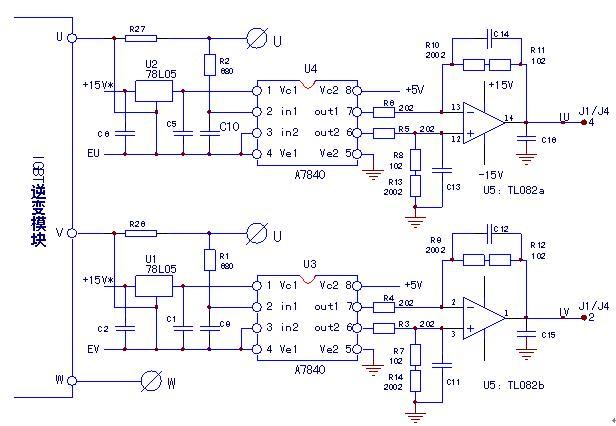 由A7840构成的电流信号检测电路