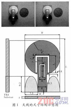 一种小型双陷波超宽带天线的设计图片