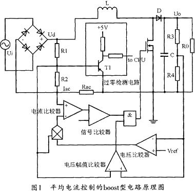 采用平均电流控制的boost型电路原理图