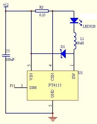 图3led恒流驱动系统电路图高清图片