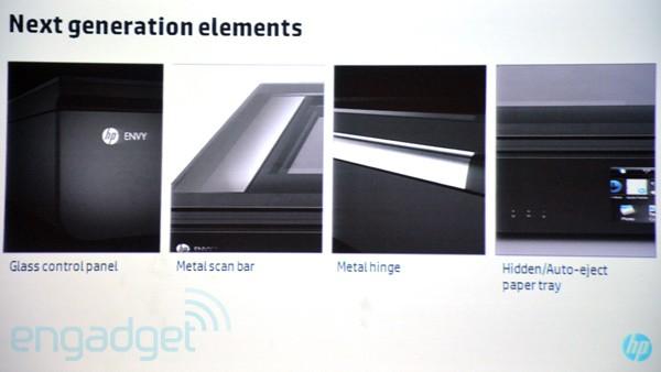 下一代惠普 Envy all-in-one 打印机抢先看,玻璃、金属元素一个都不少(视频)