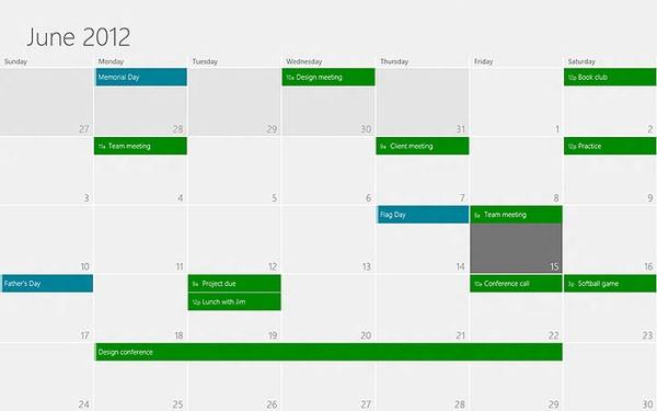 Microsoft 解说 Windows 8 日程表程序设计走向,希望让你的生活步调更为清晰