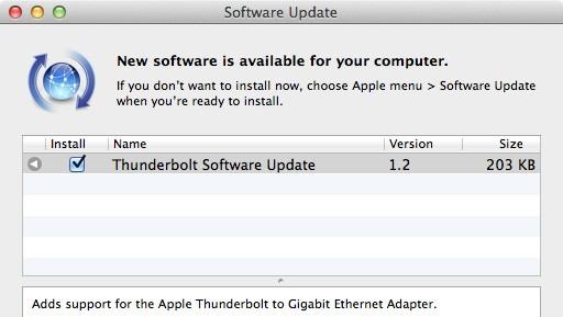 Apple Thunderbolt 软件更新导致部份使用者发生开机冻结问题