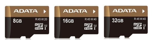 ADATA 推出三款高速存取的 SDHC 卡