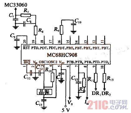 图3 MCU 控制电路-基于单片机的高压驱动电源设计图片