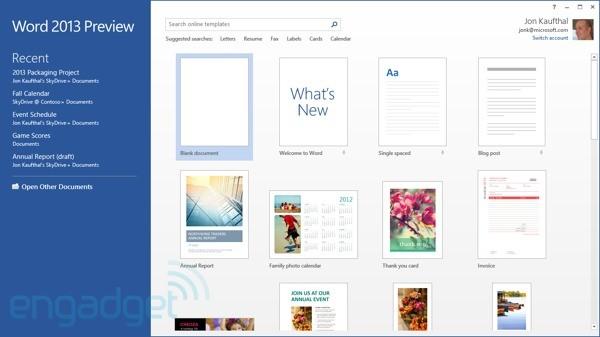 微软 Office 2013 预览版现在开放下载