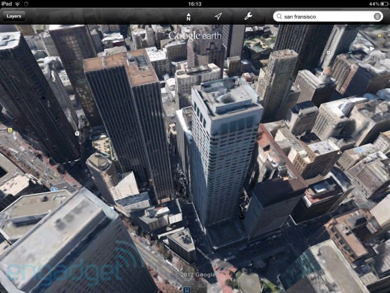 Google 为 iOS 版 Google Earth 加入 3D City View 和 Tour Guide