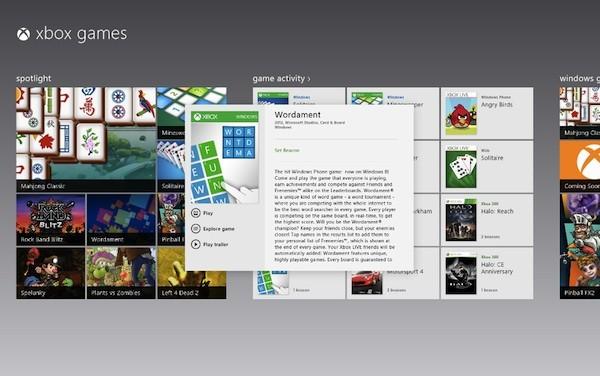 Microsoft 确认首批登陆 Windows 8 的 Xbox 游戏名单