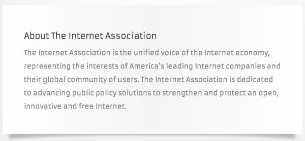 Google、Amazon 与 Facebook 等多家网络巨头确认名列 Internet Association 游说组织之中,未来动向值得观察