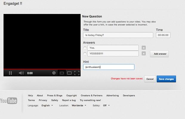 YouTube 推出 Beta 版 Video Questions Editor 功能,让你边看视频边答问题
