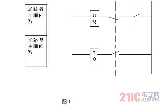 断路器接线错误引起合闸过程中操作和测控电源空气开关同时跳闸 时间高清图片