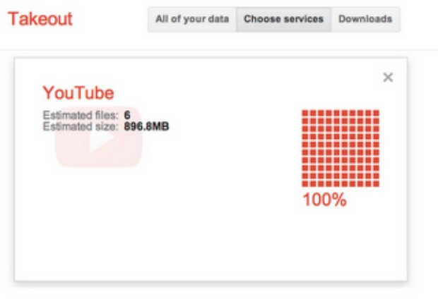 Google Takeout 新增 YouTube 视频导出功能