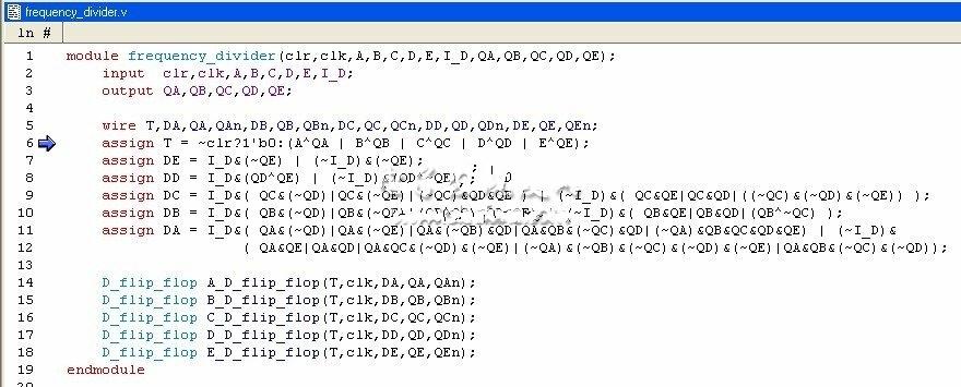 分频器代码