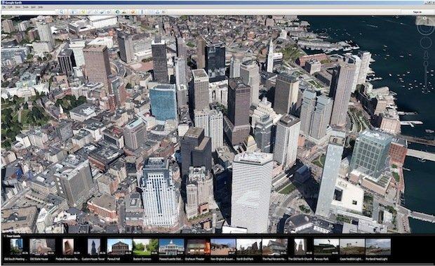 Google Earth 7 加入 3D 影像和 Tour Guide