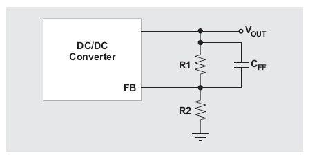 图4:使用前馈电容的电阻式反馈网络。