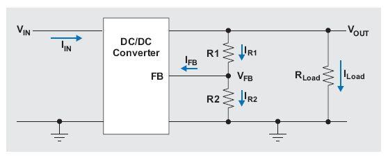 图2:进入转换器反馈引脚的漏电流