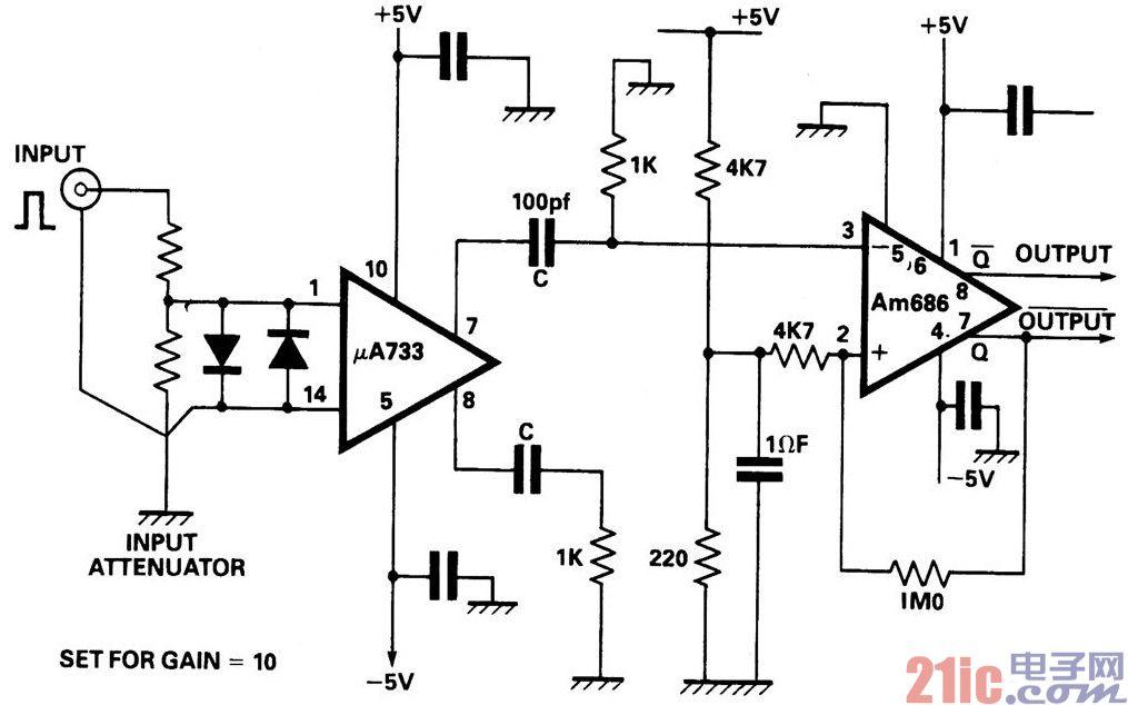 使用視頻放大器和比較器的單穩態電路.jpg