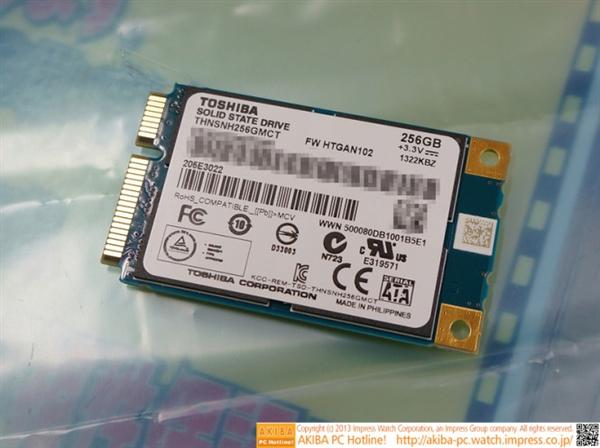 19nm闪存 东芝首款mSATA固态硬盘开卖