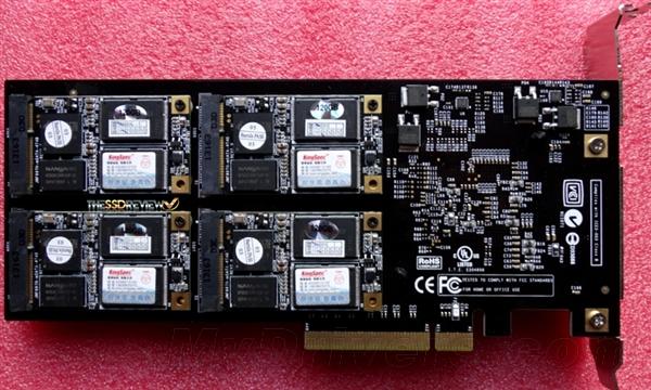 2.5GB/s!八个mSATA固态硬盘合体PCI-E