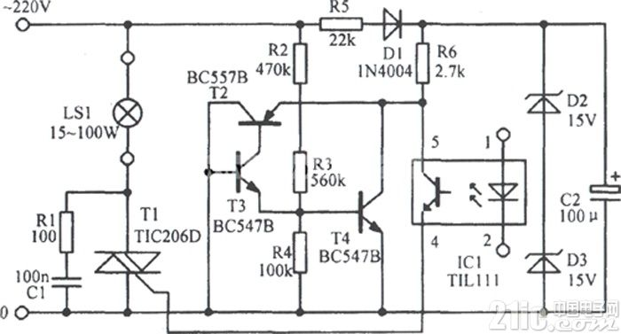 LED信号放大电路图