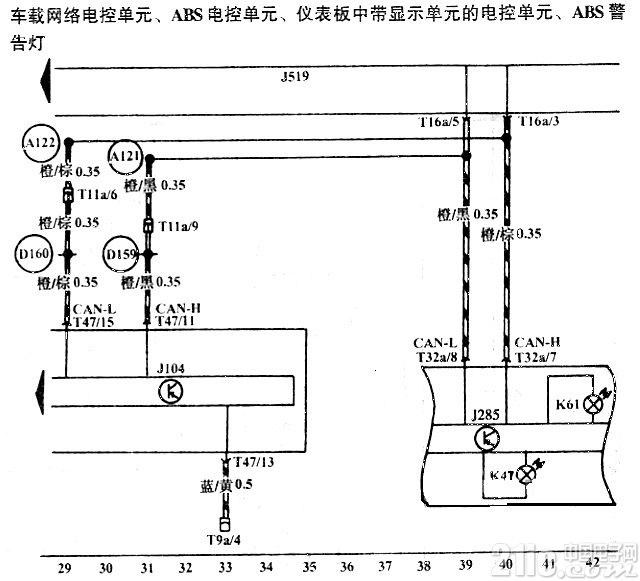 车载网络电控单元电路图