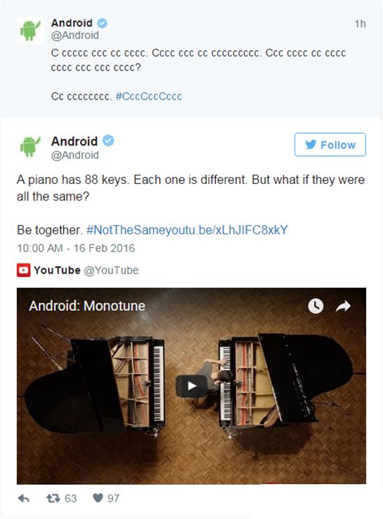 """谷歌""""Monotune单调""""新广告嘲讽IOS千篇一律"""