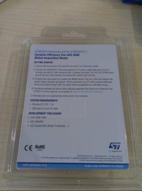 性能卓越 快速入门——STM32F4DISCOVERY评测