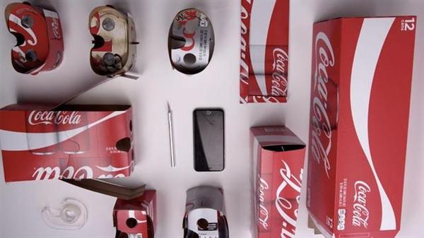 喝完可乐 用包装DIY一部VR眼镜吧!