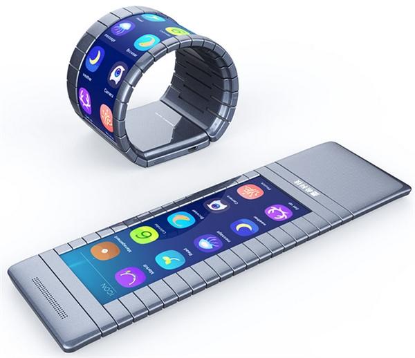 5000元吊打三星!全球首款可弯曲智能手机亮相