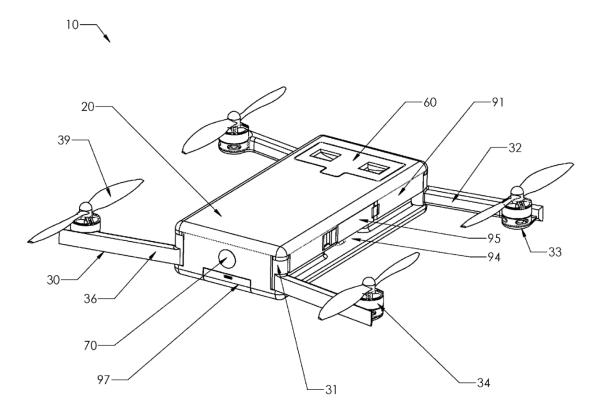 大疆无人机不便携!GoPro欲打造一个折叠方形无人机