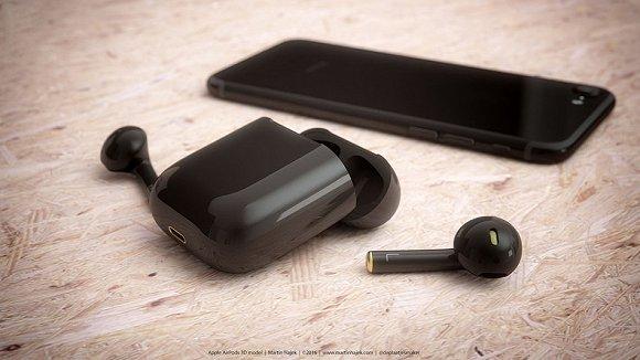 大神设计!同色亮黑版AirPods耳机来袭