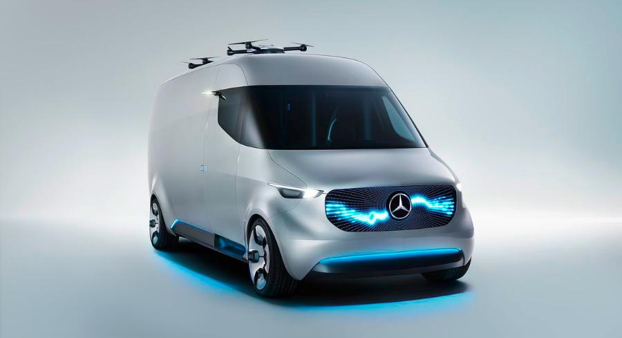 革命性的概念货车,奔驰要改变快递员的未来