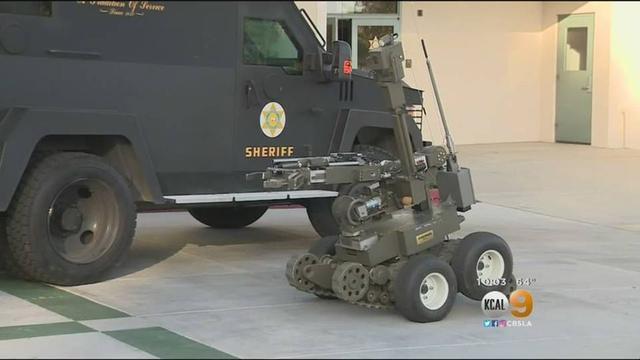 机器人进军执法界?僵持六小时夺走嫌犯步枪
