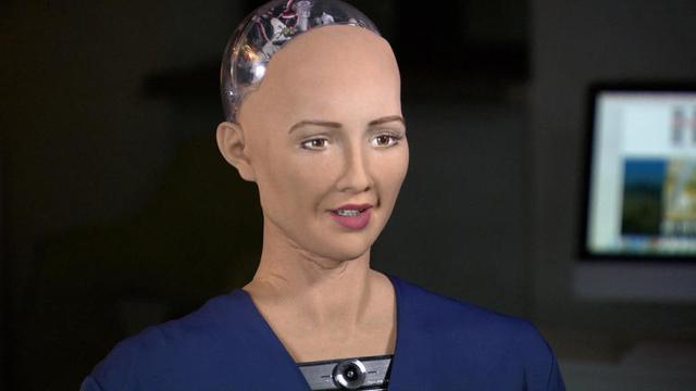 机器人上电视台访谈节目,人工智能未来不可限量