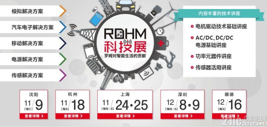 """2016 ROHM科技展""举办在即,5大城市火热报名中"