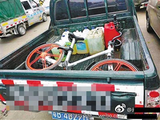 皮卡车主载摩拜单车回乡 交警用GPS揭穿其谎言