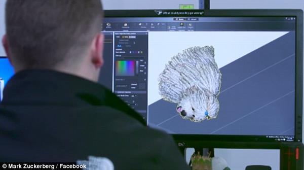 扎克伯格送爱犬3D打印塑像做礼物,太萌了!