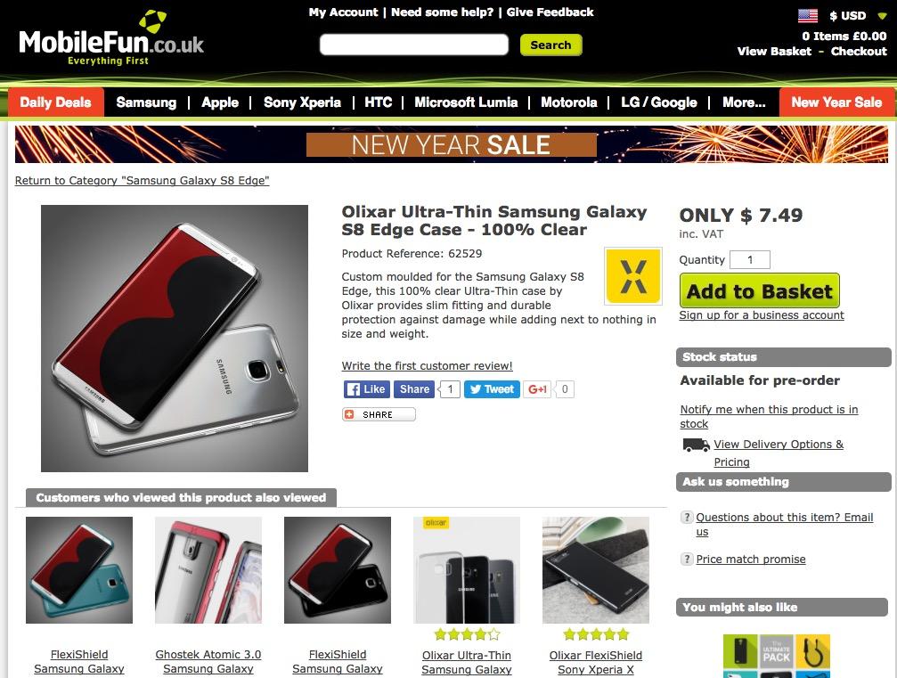 配件商再度卖队友,三星 Galaxy S8 外观曝光