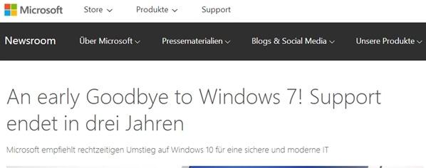微软:再见了 Windows 7!