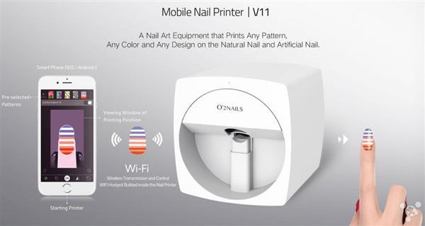 爱美甲的妹纸福利来了,O'2 Nails美甲打印机外加一部iPhone轻松搞定!