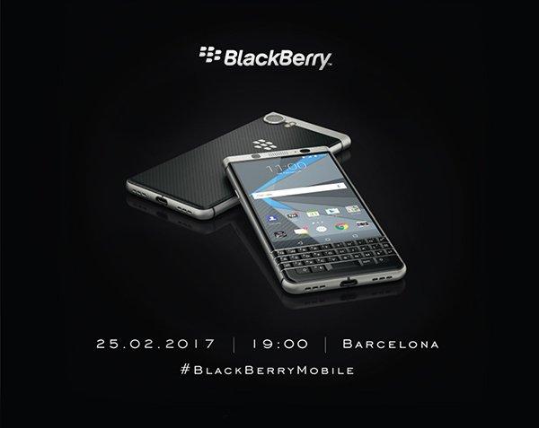 在MWC 2017前发布新机 黑莓Mercury2月25日亮相