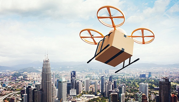 """UPS成功试验了无人机送包裹 但目前还只能做到""""门面担当"""""""
