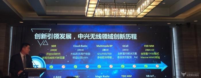 中兴通讯发5G预商用基站 峰值速率达50Gbps!