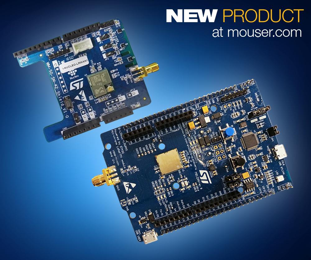 贸泽率先独家备货STMicroelectronics的STM32 LoRaWAN 探索板