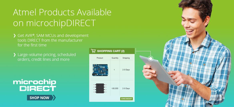 Microchip在线商店现全面供应所有Atmel原有产品