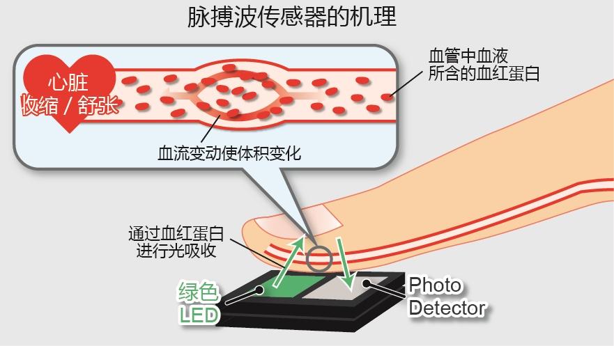 "ROHM开发出非常适合运动手环等可穿戴式设备的脉搏传感器""BH1790GLC"""
